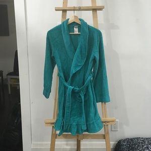 Turquoise Kid Girl Housecoat